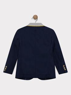 Marineblaue Jacke mit Fischgrätmuster Junge SATEDAGE / 19H3PG41VES070