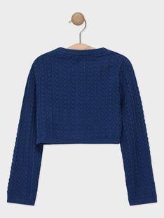 Marineblaue Strickjacke für Mädchen TUIKUETTE / 20E2PFW1CAR070