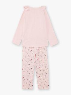 Rosa Pyjama-T-Shirt und Hose für Mädchen BEBARNETTE / 21H5PF64PYJD314
