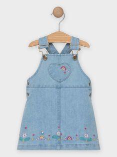 Baby-Latzhose aus Jeans für Mädchen TAILY / 20E1BFG1CHSP269