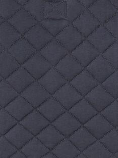 Kohlegraue Reißverschlussjacke aus gestepptem Jersey ZACESAR / 21E1BG91GILJ912