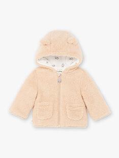Baby Junge braune Kapuzenjacke BIMARCEL / 21H1BGC1VESI819