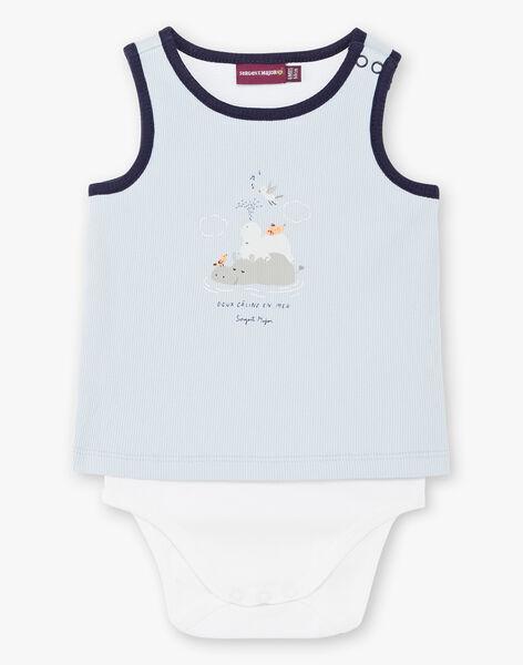 Hellblauer und weißer Baby-Jungen-Bodysuit ZAOLSEN / 21E1BGT1BOD213
