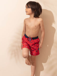 Rote Badeshorts für Jungen ZYSHORTAGE / 21E4PGR7MAI505