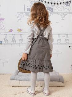 Kind Mädchen Gingham fließenden Latzhose Kleid BECHAETTE / 21H2PF21CHS090