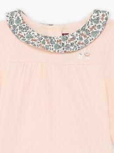 Baby Mädchen rosa Strampler mit bedrucktem Kragen BAOLIA / 21H1BFO1BODD300