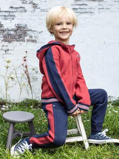 Rot-blauer Jogginghose für Baby-Jungen BADONAGE / 21H3PG13PAN720