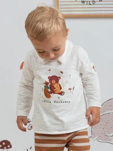 Weißes Langarm-Poloshirt für Babys BALIAM / 21H1BGJ1POL001