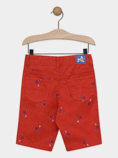 Bestickte Bermuda-Shorts für Jungen, rot TEWOLAGE / 20E3PGH4BERF508