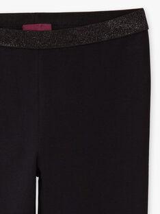 Schlichte schwarze Leggings für Baby-Mädchen mit Pailletten-Details BRONETTE 2 / 21H4PFB3CTT090