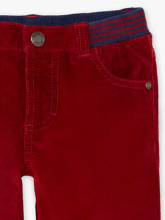 Orangefarbene Hose für Jungen mit Einsätzen BUXUAGE2 / 21H3PGF3PANF527