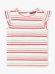 Gestreiftes Latzhosen- und T-Shirt-Set ZOCHUETTE / 21E2PFJ1ENSP269