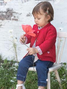 Baby Girl's bedruckte Jeans und Gürtel BAANGELE / 21H1BF11PANP270