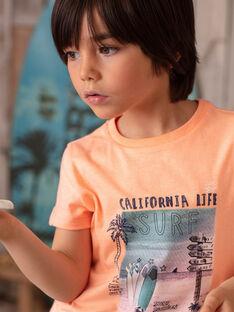 Orange T-shirt gedruckt surfen ZOAMAGE / 21E3PGU1TMCD311