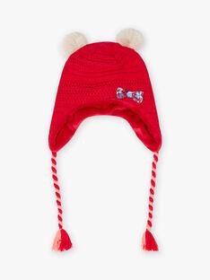 Rote Strickmütze Kind Mädchen BLOZANETTE / 21H4PFE2BON308