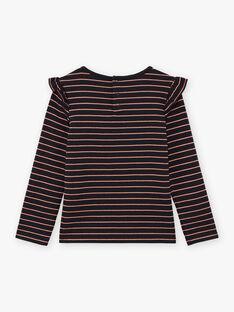 Langärmliges schwarzes T-Shirt für Mädchen mit Stickerei BRITIZETTE / 21H2PFM2TML090