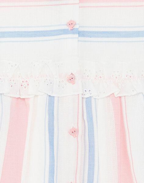 Rosa und blau gestreiftes Kleid mit Streifen und passenden Blommer Baby Mädchen ZAPHOEBE / 21E1BFT1ROB001