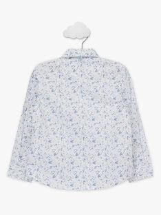Hemd mit Blumendruck und abnehmbarer Fliege Jungen TIFLORAGE / 20E3PGJ6CHM001