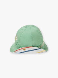 Baby Boy Reversible Grün und Weiß Hut TARYAD / 20E4BGQ1CHA611