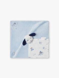 Himmel und weißer Hund Plüsch Baby Junge BOYAN / 21H0AG41JOU219