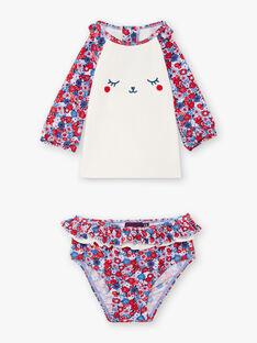 Zweiteiliges Anti-UV-Set für Baby-Mädchen mit Blumendruck ZISWEETY / 21E4BFR1EUV020