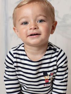 Baby Boy's White & Navy Stripe T-Shirt BAFLORIS / 21H1BG51TML001