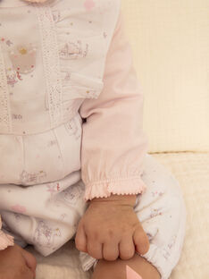 Baby-Mädchen-Bodys, Latzhose und Socken-Set ZOURA / 21E0CFG3ENS000