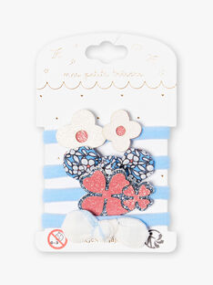 Set aus 4 sortierten Gummibändern für Kinder und Mädchen ZUFLORETTE / 21E4PF85ELA201
