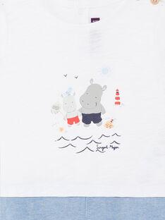 Weißer und blauer Baby-Jungen-Overall ZAOUEST / 21E1BGT1CBL000