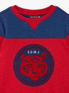 Rotes und blaues Baumwoll-Fleece-Sweatshirt ZAGLAGE / 21E3PGI1SWE502
