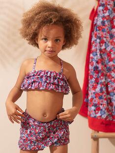 Blaue und rote Blume Badeshorts Kind Mädchen ZAITUETTE / 21E4PFR3SDB020