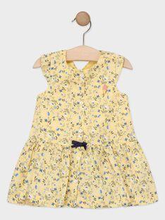 Babykleid mit Blumenprint für Mädchen, gelb TAOSTINE / 20E1BFO1ROB103