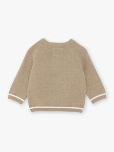 Beiger Pullover für Baby-Jungen BADAO / 21H1BG21PULA013