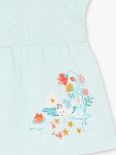 Wassergrünes T-Shirt aus Jersey und Popeline ZACAROLE / 21E1BFI1TMC629