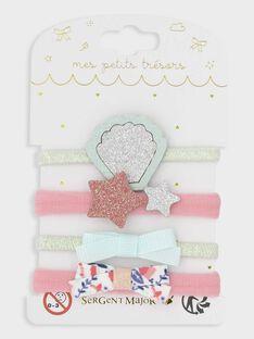 Set mit 4 Gummibändern für kleine Mädchen, marineblau TIODETTE / 20E4PFK3ELA419