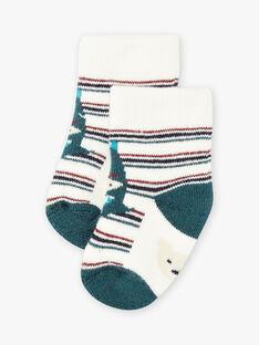 Gestreifte Socken für Baby Jungen mit Dinosauriern BAJOHN / 21H4BG92SOQ001