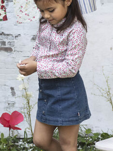 Baby Girl Kurzer Denim-Rock BABETTE / 21H2PF11JUPP269
