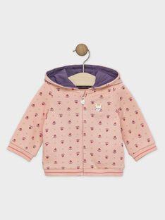 Rosa bedruckte Baby-Jogging-Jacke für Mädchen SAGWENDO / 19H1BF61JGH413