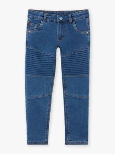 Gestrickte Jeans mit Denim-Effekt für Jungen ZAMLAGE / 21E3PG91JEAP269