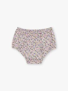 Baby Mädchen rosa und gelb Blumendruck Kleid und Bloomer BACHRISTIE / 21H1BF21ROB001