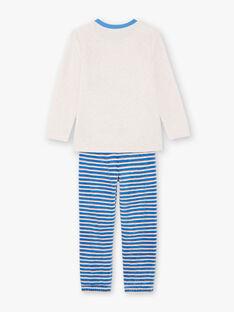 Blaues und weißes Pyjama-T-Shirt und Hose für Jungen BEVIKAGE / 21H5PG64PYJA011