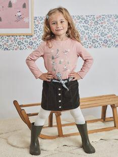 Baby Mädchen khaki gerippt Rock mit gedruckten Gürtel BLAJUPETTE / 21H2PFO1JUP626