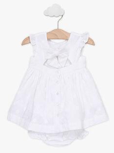 Baby-Kleid aus englischer Stickerei für Mädchen, ecrufarben TALEA / 20E1BFJ1ROB000