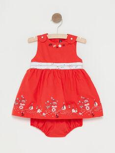Rotes Babykleid Mädchen TATAMARA / 20E1BFW1CHSF503