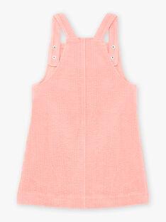 Kind Mädchen rosa Kord-Overall Kleid BYCHASETTE / 21H2PFL1CHS415