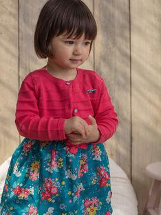 Baby Mädchen rosa Weste TAVIVIANE / 20E1BFX1CARF507