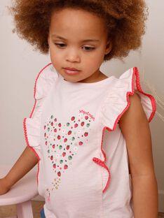 Rosa T-Shirt mit Erdbeermuster ZOMIRETTE / 21E2PFJ1TMC301