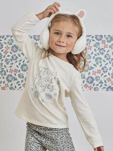 Kind Mädchen Snow Flower T-Shirt BLACOLETTE / 21H2PFO2TML001