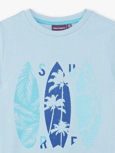 Himmelblaues T-Shirt mit Surfer-Muster ZUZAGE4 / 21E3PGL4TMC020