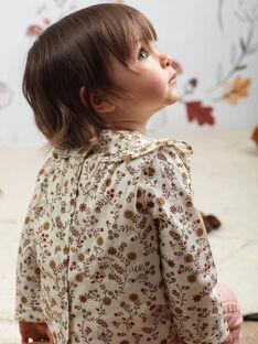 Baby Mädchen bedruckte Bluse und gestrickte Leggings BAISTELLE / 21H1BFJ1ENS001